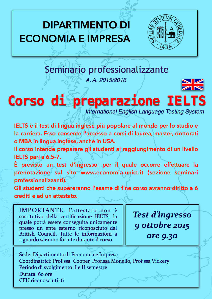 Nuovo test ielts dipartimento di economia e impresa for Test ingresso economia