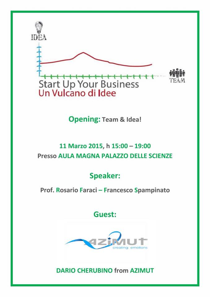 Seminario professionalizzante Start up your business  Un
